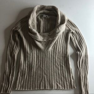 Banana Republic cowl neck cashmere blend sweater